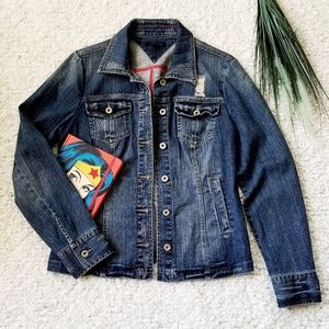 Tommy Hilfiger Distressed Denim Jacket